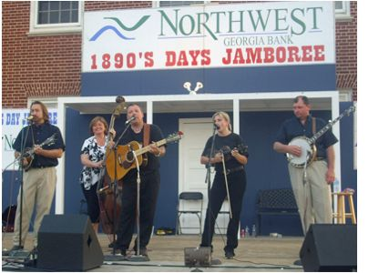 A Step Ahead of Greenbrier, Tenn. took first place in the 1890s Day Jamboree Old Time Fiddlers Convention Bluegrass Band Contest. (Photo by Randall Franks)