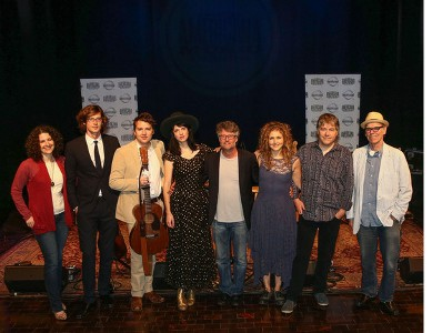 Abi Tapia, Joey Ryan & Kenneth Pattengale, Nikki Lane, Jed Hilly, Abigail Washburn, Bela Fleck, and John Hiatt. Photo by Terry Wyatt, Getty Images