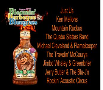 8th Bloomin' Barbeque &amp; Bluegrass Lineup