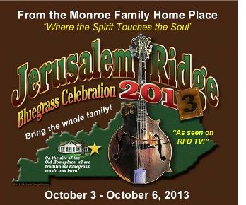 Jerusalem Ridge Bluegrass Music Festival 2013