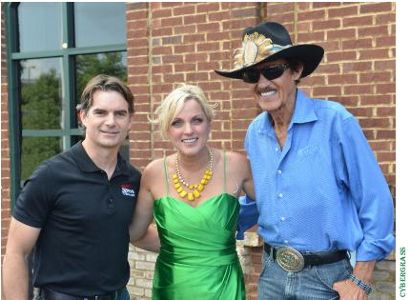 Jeff Gordon, Rhonda Vincent, Richard Petty