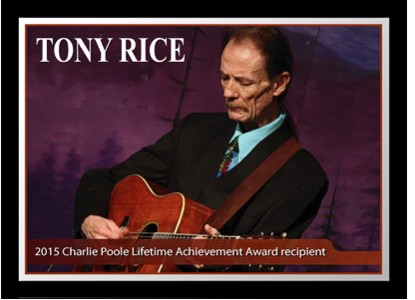 Tony Rice Receives Charlie Poole Music Festival Lifetime Achievement Award