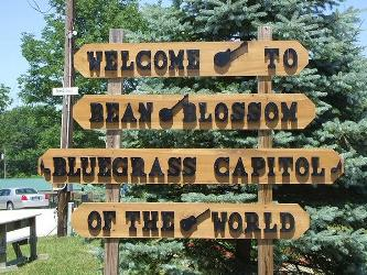 Bean Blossom Sign